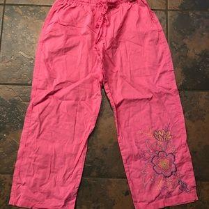 Victoria secret pajama pants capris size xs